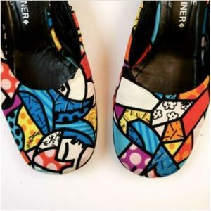 Donald J Pliner Multicolor Slip Ons